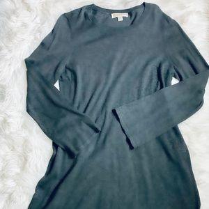 MICHAEL KORS Dark Gray SweaterDress-L *F575*
